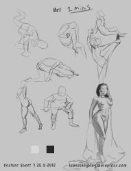 Gesture Sheet 7 - 2mins and one 20 minutes by lewislong