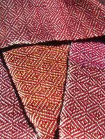 Red Variegated Scarf by toomuchcanvas