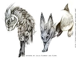 Sketches: Creature of Autumn by CreepyRabbit