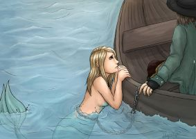 The mermaid and the captain by Leylaleya