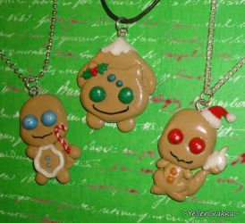 Pokemon Christmas Cookie Charm Necklaces - Gen 1 by YellerCrakka