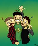 Mark, Jack, and Felix by Isharkdrawing