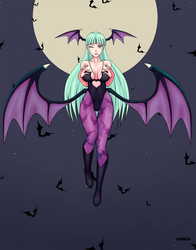 Morrigan Aensland - Fanart by sketchbits