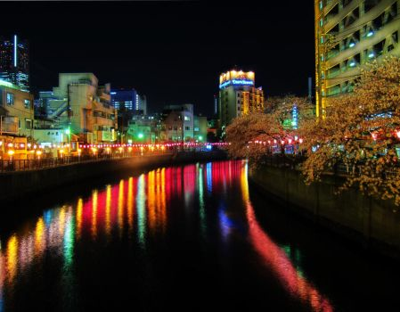 Yokohama Canal Lights by 2378-TCDD
