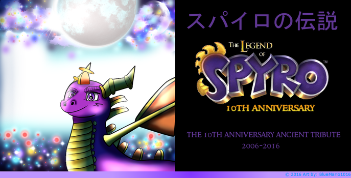 The Legend of Spyro 10th Anniversary Anime Art by BlueMario1016