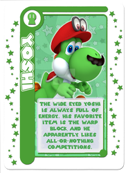 Mario Party Card Game: Yoshi Character Card by Assassannerr