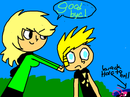 me pushing johnny test into hell by Cutie-Kitty-Julie