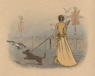 Victorian Dachshund by tinkerbelcky