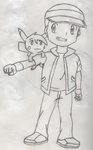 Sketch 1: Curtis and Thunder by PKMNTrainerSpriterC