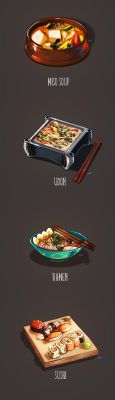 Noodles and rice by Pamf