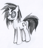 Vinyl Scratch Charcoal by Zyncrus