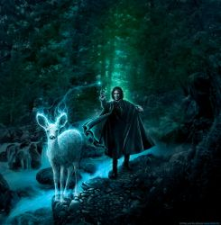 Expecto Patronum (RIP Alan Rickman) by alexiuss