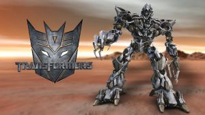 Transformers - Megatron Wallpaper by GregKmk