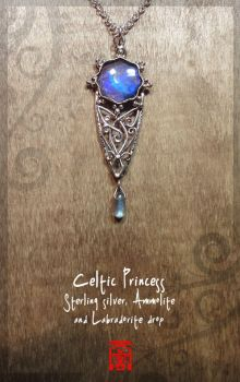 Celtic Princess in Silver and Blue by somk