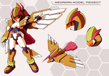 Commission: Megaman Model Pidgeot by innovator123