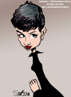 Caricature of Audrey Hepburn by nelsonsantos