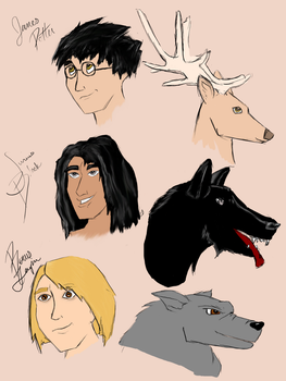 Marauders Sketch by pirate-LD
