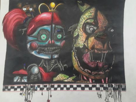 Freak show baby and springtrap by captaincrunch1950
