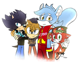 Andrew, Jack, Cyper and Pokey by TheDarkShadow1990