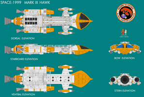 Gerry Andersons Space 1999 Mk IX Hawk by ArthurTwosheds