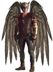 Hawkman CW in Transparent Background by Gasa979