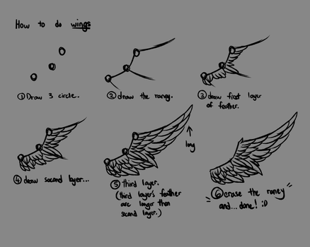 how to draw wings by HuiRou