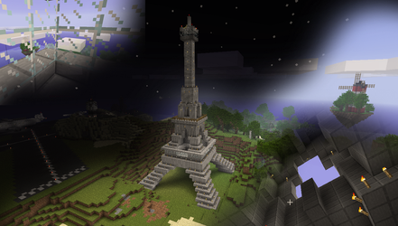 Minecraft - The Eiffel Tower by wiatrP1