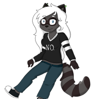 .::Art Trade:. That Raccoon That Says No by TheFreak--Show