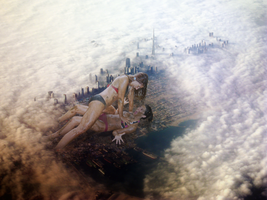Giantess Fight by intershrinker