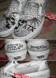 Deathbat Shoes 2.0 by ILoveAllThePoison