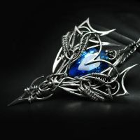 AREVIRTH AXEERI Silver and Blue Zirconia by LUNARIEEN