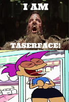 Enid laughing at Taserface by Negaboss2000
