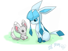 28 May- Minccino and Glaceon