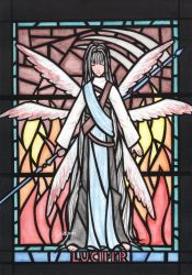 Lucifer - stained-glass window by zero0810
