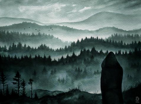 Dan and a foggy landscape ~ danisnotonfire by szluu