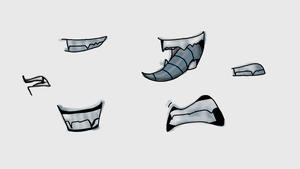 Nightmare's mouth sketches by KrystalBM