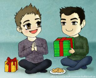 Happy Holidays 2013, Nick and Greg by Sillie