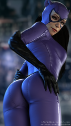 Catwoman butt pose by RedDoe