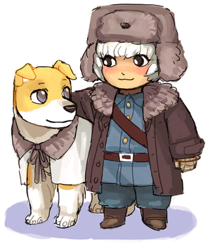 Finland and Hanatamago by emlan