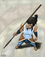 Korra Takes Flight by Goldencloud