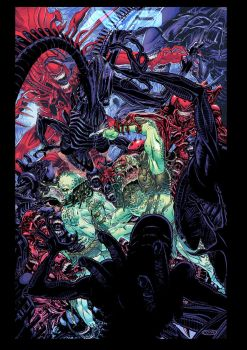 Aliens vs Predators by ScottCohn
