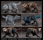 Skelebeasts by emilySculpts