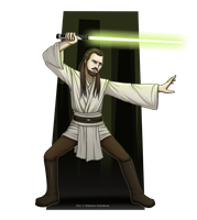 Qui-Gon Jinn by Stephany-Q-Vin