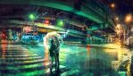 Under The Overpass by yuumei