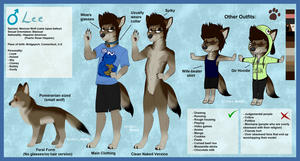 .:Gift:. Ref. Sheet for Letipup (Leti's Male Form) by ScottishRedWolf
