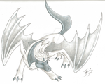 Silver in Absol Form by CaptainMorwen