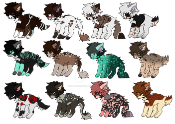 Wolf Adoptions -OPEN- by GalaxyPastel