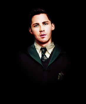 Logan Lerman as Slytherin by PoketJud
