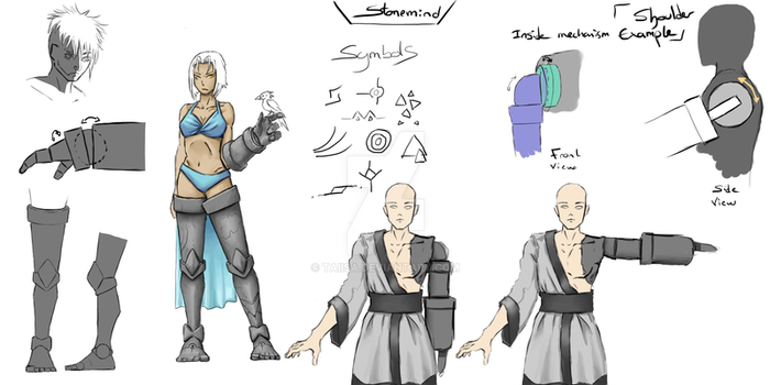 Character design research : Stonemind by taiisa