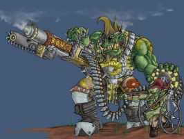 Orks - Flash Git - Colour by Taytonclait